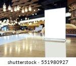 mock up menu on table bar...   Shutterstock . vector #551980927