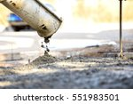 concrete pouring during... | Shutterstock . vector #551983501