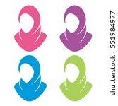 hijab muslim veil headscarf...   Shutterstock .eps vector #551984977