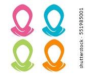 hijab muslim veil headscarf... | Shutterstock .eps vector #551985001