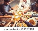 people in asian are celebrating ... | Shutterstock . vector #551987131