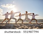 fitness  sport  yoga and... | Shutterstock . vector #551987794
