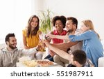 friendship  holidays  fast food ... | Shutterstock . vector #551987911