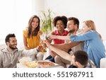 friendship  holidays  fast food ... | Shutterstock . vector #551987911