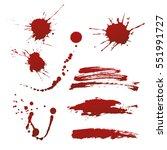 vector blood splash drops | Shutterstock .eps vector #551991727
