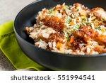 homemade chinese fried rice... | Shutterstock . vector #551994541