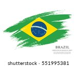 Stock vector flag of brazil brush stroke background 551995381