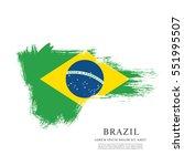 flag of brazil  brush stroke... | Shutterstock .eps vector #551995507