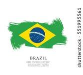 flag of brazil  brush stroke... | Shutterstock .eps vector #551995561