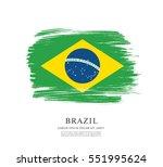 flag of brazil  brush stroke... | Shutterstock .eps vector #551995624