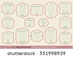 big vector set of vintage... | Shutterstock .eps vector #551998939