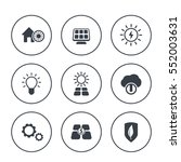solar energy icons in circles...