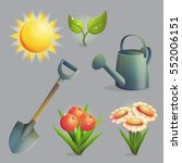 a collection of planting ... | Shutterstock .eps vector #552006151