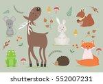 vector illustration set of... | Shutterstock .eps vector #552007231