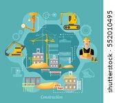 construction site industrial... | Shutterstock .eps vector #552010495