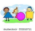 vector illustration of stick... | Shutterstock .eps vector #552010711