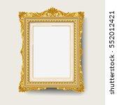 vintage gold  picture frame  | Shutterstock .eps vector #552012421