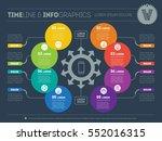 vector infographic of... | Shutterstock .eps vector #552016315