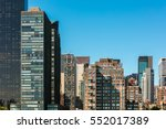 view with skyscrapers and tall... | Shutterstock . vector #552017389