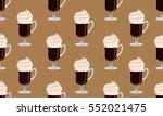 irish coffee vector seamless... | Shutterstock .eps vector #552021475
