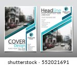 blue flyer cover business... | Shutterstock .eps vector #552021691