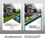 green flyer cover business...   Shutterstock .eps vector #552021697