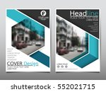 blue hexagon flyer cover... | Shutterstock .eps vector #552021715