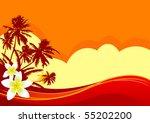 summer themed beach... | Shutterstock .eps vector #55202200