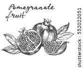 fruit pomegranate  set hand... | Shutterstock .eps vector #552022051