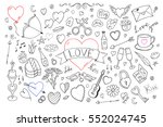 collection of happy valentines... | Shutterstock .eps vector #552024745