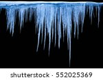 icicles on an black background  ... | Shutterstock . vector #552025369