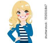 beautiful cute blonde teenager...   Shutterstock .eps vector #552031867