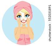 beautiful young blonde woman... | Shutterstock .eps vector #552031891
