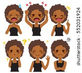 cute young african american... | Shutterstock .eps vector #552031924