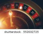 las vegas casino roulette 3d... | Shutterstock . vector #552032725