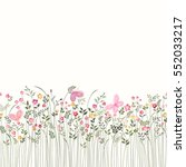 seamless floral border with... | Shutterstock .eps vector #552033217