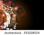 copy space casino background 3d ... | Shutterstock . vector #552038524