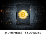 bitcoin mobile phone transfer... | Shutterstock . vector #552040369
