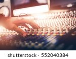 audio mixer sound adjusting... | Shutterstock . vector #552040384