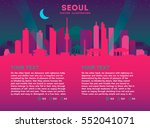 seoul skyline with buildings ... | Shutterstock .eps vector #552041071