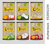 set of colorful labels  sketch... | Shutterstock .eps vector #552042154