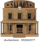 Saloon   Vector Art   Old West...