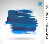 brush stroke and texture.... | Shutterstock .eps vector #552042721