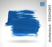 brush stroke and texture.... | Shutterstock .eps vector #552042805
