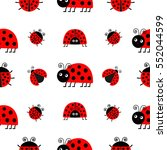 ladybug ladybird icon set. baby ... | Shutterstock .eps vector #552044599