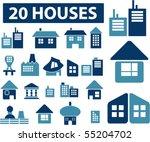 20 buildings signs. vector | Shutterstock .eps vector #55204702