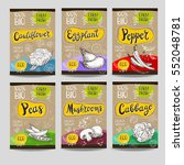 set of colorful labels  sketch... | Shutterstock .eps vector #552048781