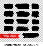 vector grunge black watercolor... | Shutterstock .eps vector #552050371