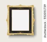 vintage gold picture frame   Shutterstock .eps vector #552051739