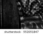 usa flag on a wood surface   Shutterstock . vector #552051847